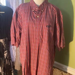 Men's 2XL chaps button down short sleeve shirt